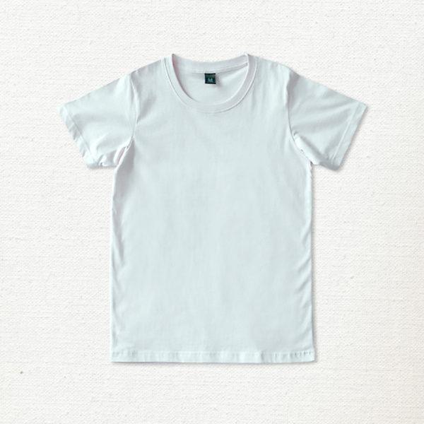 เสื้อยืด ผ้าคอตตอน คอกลม – สีขาว - AmuseSilkscreen.com