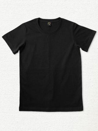 เสื้อยืด ผ้าคอตตอน คอกลม – สีดำ - AmuseSilkscreen.com