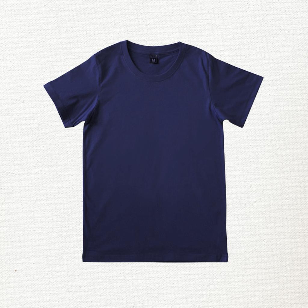 เสื้อยืด ผ้าคอตตอน คอกลม – สีกรมท่า - AmuseSilkscreen.com