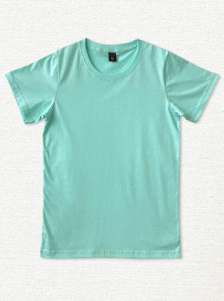 เสื้อยืด ผ้าคอตตอน คอกลม – สีน้ำเงินเขียว - AmuseSilkscreen.com