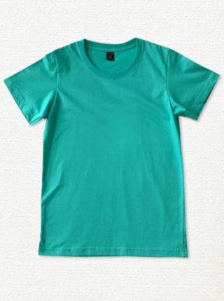 เสื้อยืด ผ้าคอตตอน คอกลม – สีเขียวอมฟ้า - AmuseSilkscreen.com