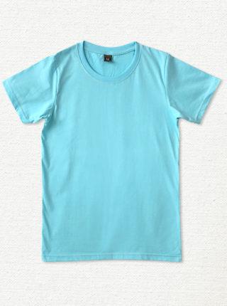 เสื้อยืด ผ้าคอตตอน คอกลม – สีฟ้า - AmuseSilkscreen.com