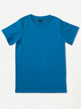 เสื้อยืด ผ้าคอตตอน คอกลม – สีฟ้าน้ำทะเล - AmuseSilkscreen.com