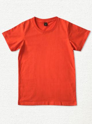 เสื้อยืด ผ้าคอตตอน คอกลม – สีส้มแดง - AmuseSilkscreen.com