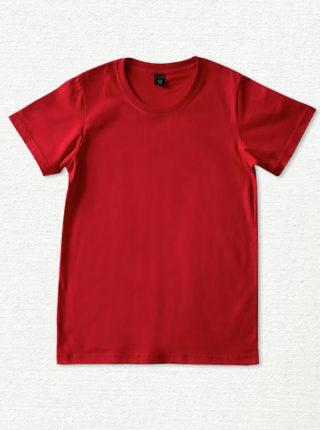 เสื้อยืด ผ้าคอตตอน คอกลม – สีแดง - AmuseSilkscreen.com