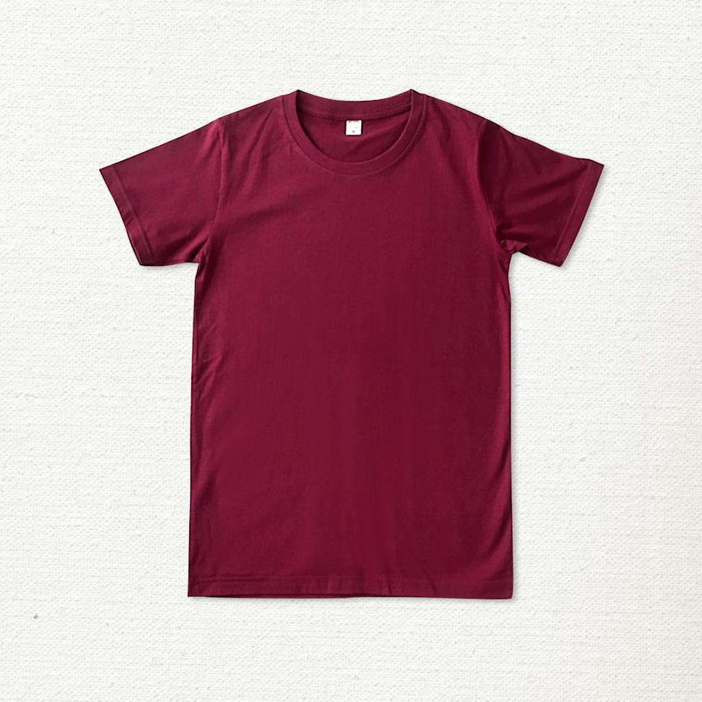เสื้อยืด ผ้าคอตตอน คอกลม – สีแดงเลือดนก - AmuseSilkscreen.com