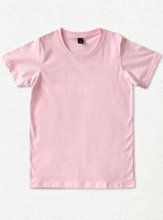 เสื้อยืด ผ้าคอตตอน คอกลม – สีชมพู - AmuseSilkscreen.com