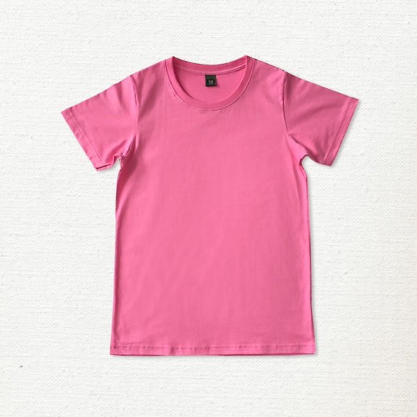 เสื้อยืด ผ้าคอตตอน คอกลม – สีชมพูราสเบอร์รี่ - AmuseSilkscreen.com