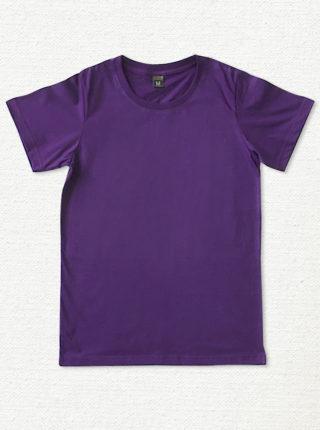 เสื้อยืด ผ้าคอตตอน คอกลม – สีม่วง - AmuseSilkscreen.com