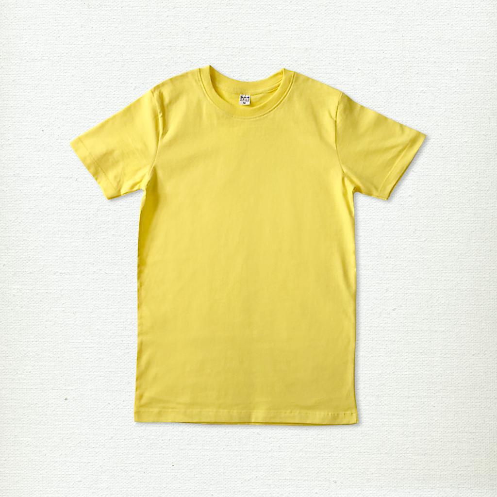 เสื้อยืด ผ้าคอตตอน คอกลม – สีเหลืองจัน - AmuseSilkscreen.com