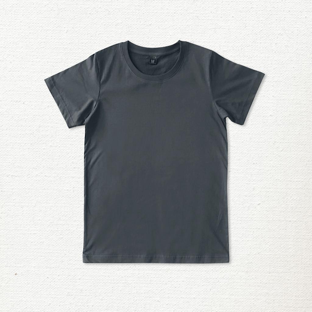 เสื้อยืด ผ้าคอตตอน คอกลม – สีเทา - AmuseSilkscreen.com