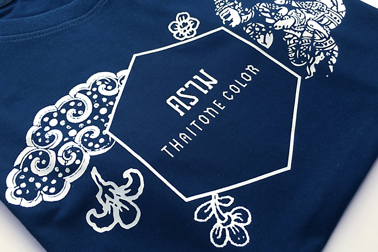 เสื้อยืดไทยโทน – คราม - สกรีนสียาง - AmuseSilkscreen.com