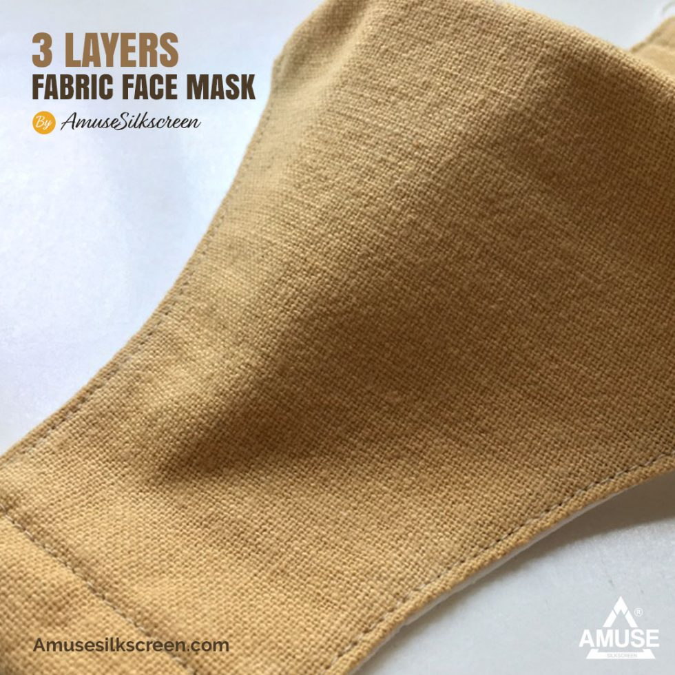 หน้ากากผ้า 3 ชั้น ทรง 3d จาก AmuseSilkscreen